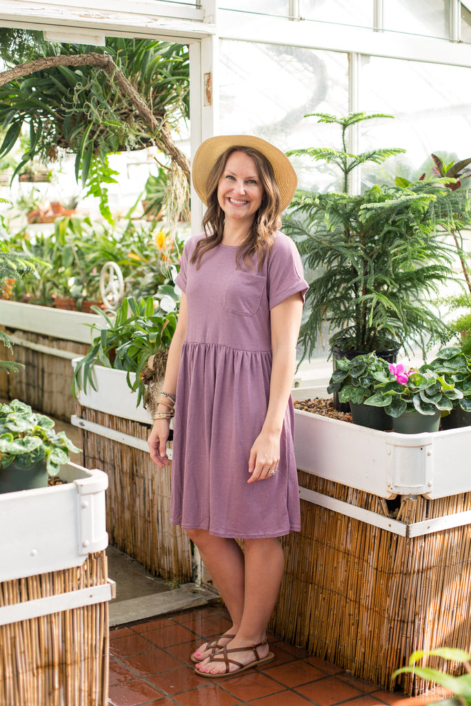Riley Dress - Purple