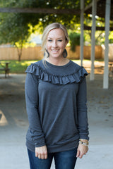 Lauren Top - Heather Charcoal
