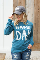 Game Day Tee (Long Sleeve) - Heather Teal