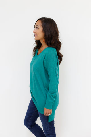 Evangeline Sweater - Heather Green