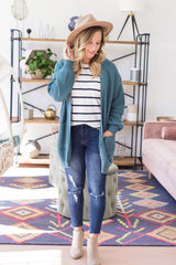Bramble Cardigan - Teal