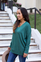 Evangeline Sweater - Heather Juniper
