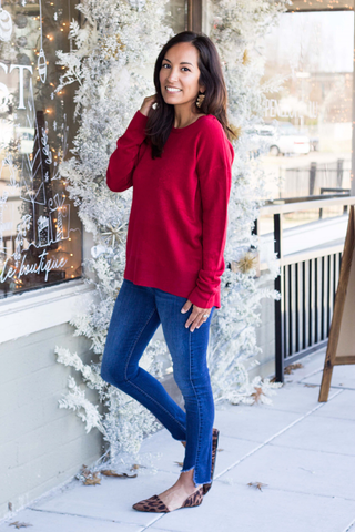 Samantha Sweater - Christmas Red