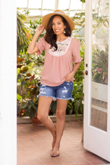 Georgia Top - Soft Pink