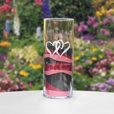 Linked Hearts Large Cylinder, Personalized