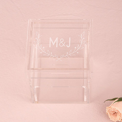 Personalized Unique Alternative Acrylic Wedding Ring Box