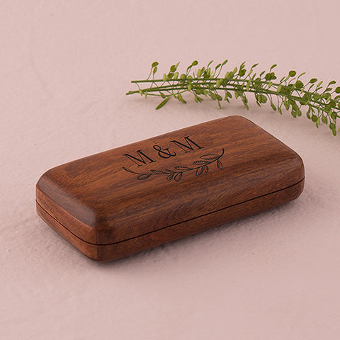 Natural Charm Personalized Pocket Size Wooden Wedding Ring Box