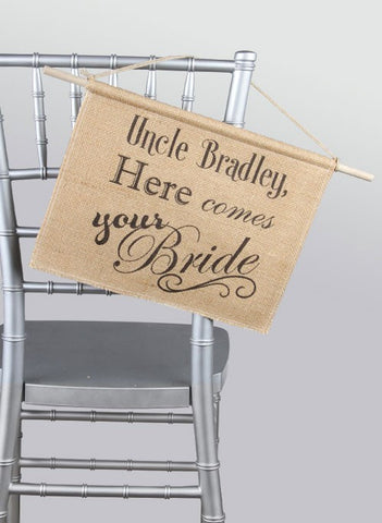 Personalized Burlap Sign