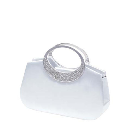 White Satin Handbag