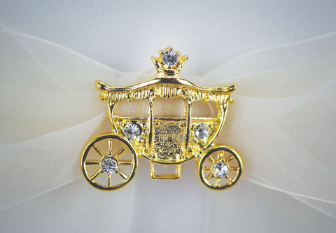Elegant Fairy Tale Cinderella Coach Wedding Ring Bearer Pillow