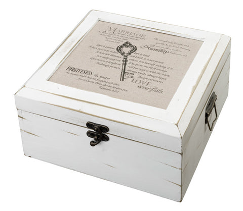 Antique White Card Box