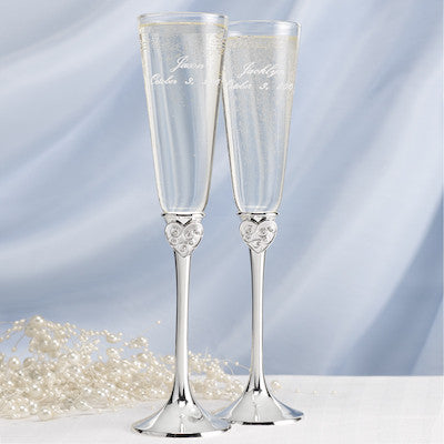 Dreams Come True Toasting Flutes