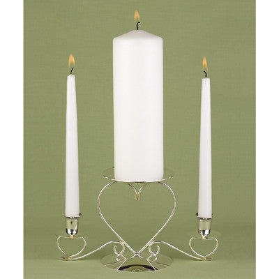 Basic White Unity Candle Set