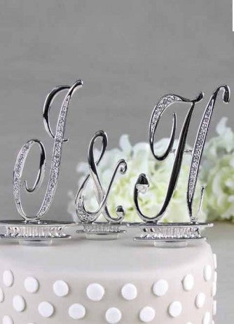 Crystal Monogram Individual Letter Cake Topper