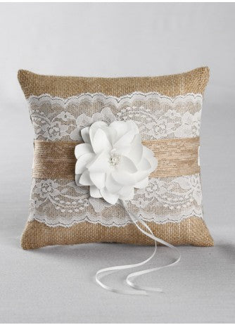Rustic Garden Ring Pillow
