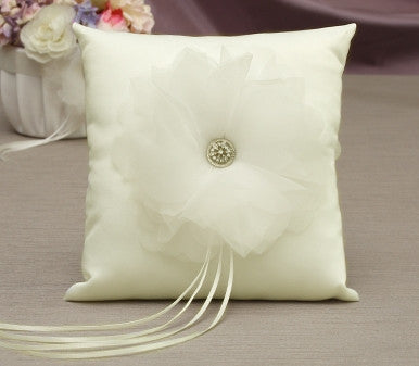 Chloe Ring Pillow - White or Ivory