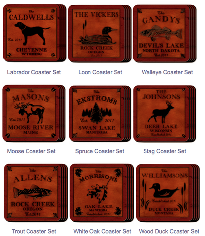 Cabin Series Coaster Set