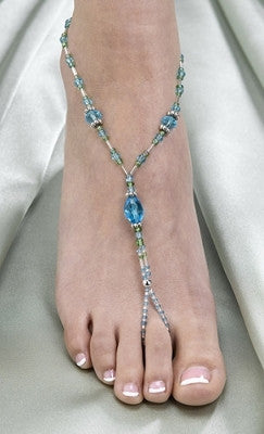 Pair of Beaded Foot Jewelry - Variety of Colors