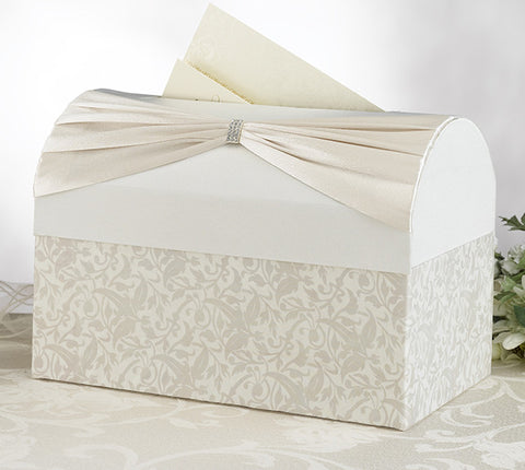 White or Ivory Sash Card Box