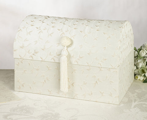 Chest Card Box - White or Ivory