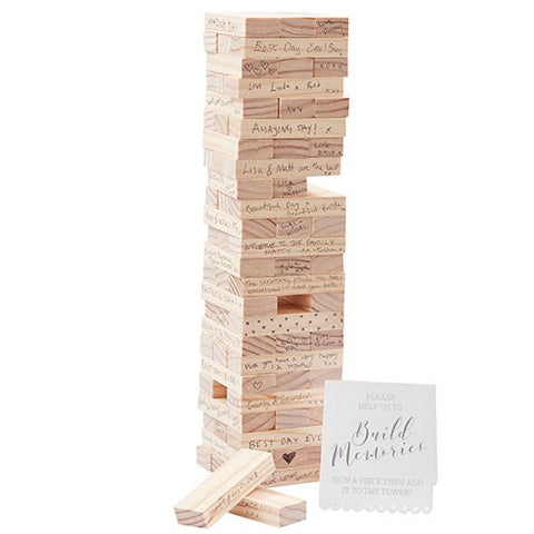 Memory Blocks Wedding Guest Book