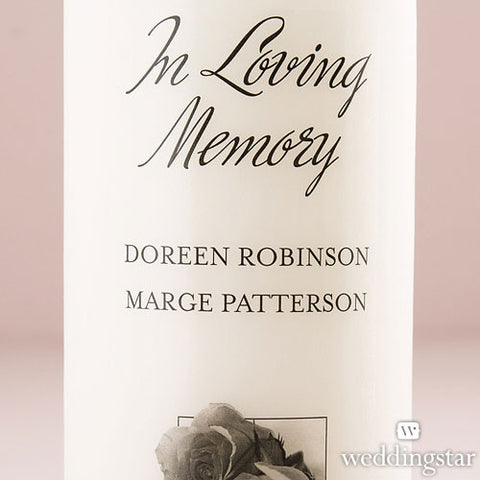 Personalized Memorial Pillar Candle - White or Ivory