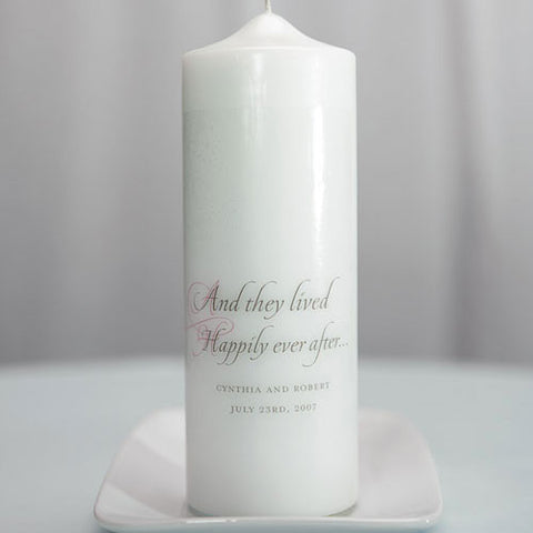 Happily Ever After Personalized Unity Candle