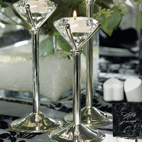 Diamond Shaped Tealight Holders (pkg of 3)