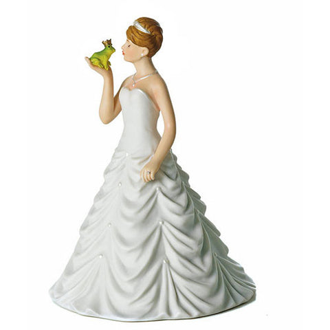 Princess Bride Kissing Frog Prince Cake Topper