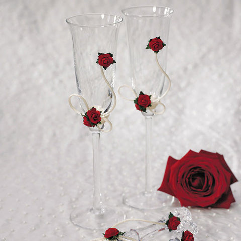 Flower of Love In Romantic Red Toasting Set