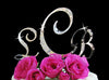 3 Pc. Swarovski Crystal French Flower Monogram Cake Topper