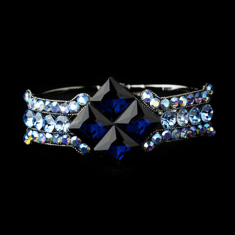 Crystal Bridal Clasp Bracelet - Available in a variety of colors