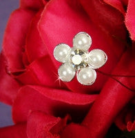 Beaded Pearl Flower Bundle - Silver or Gold