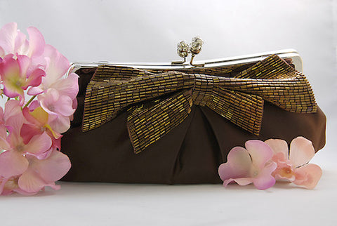 Matte Satin Bridal Evening Bag - Variety of Colors
