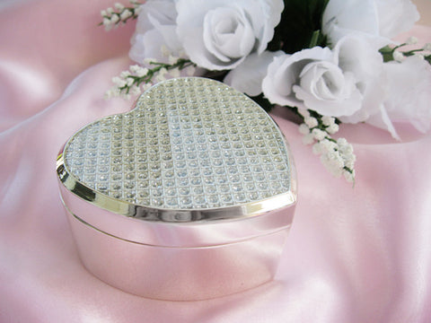 Crystal Glitter Clear Heart Jewelry Box