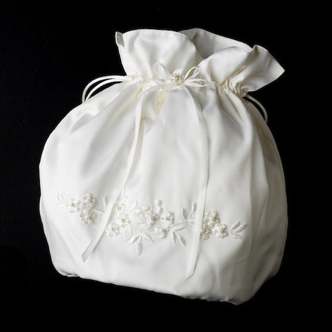 Bridal Money Bag - White or Ivory