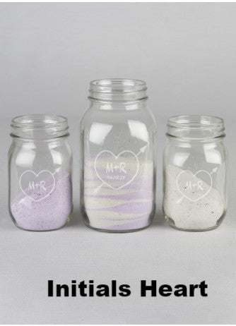 Mason Jars Sand Ceremony Set - Multiple Design Styles Available