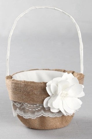 Rustic Garden Flower Girl Basket