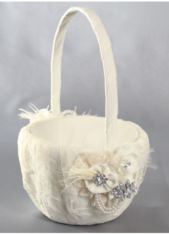 Genevieve Flower Girl Basket