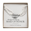 Personalized Pearl Necklace with Rhinestone Toggle - White or Ivory
