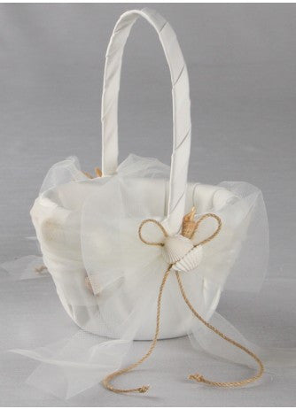 Seashore Flower Girl Basket