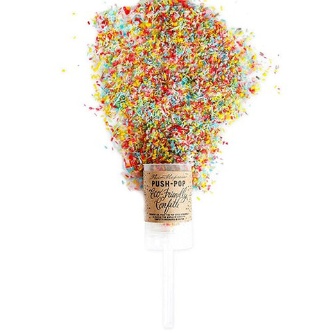 Eco-Friendly Push-Pop Confetti - Multi-color - Set of 2