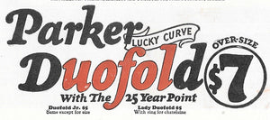 Parker Duofold, Lucky Curve, Green Marble