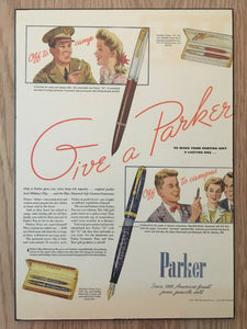 Vintage Ads. Mounted: Parker Vacumatic