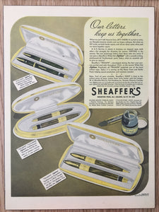 Vintage Ads. Mounted : Sheaffer's Vigilant, Triumph