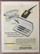 Vintage Ads. Mounted : Sheaffer's Sentinel Tuckaway