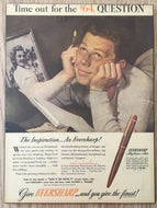 Vintage Ads. Mounted : Eversharp, $64 question