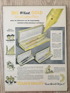 Vintage Ads. Mounted: Big 14-Karat Gold Hand-Crafted Point