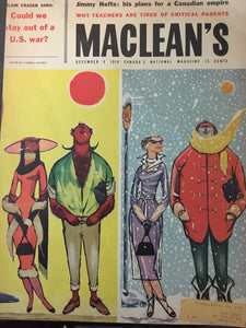 Parker 61, 51, 21, Christmas, MacLean's Magazine, December 6, 1958