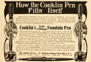 Conklin Mark Twain - Gold, Crescent Glory